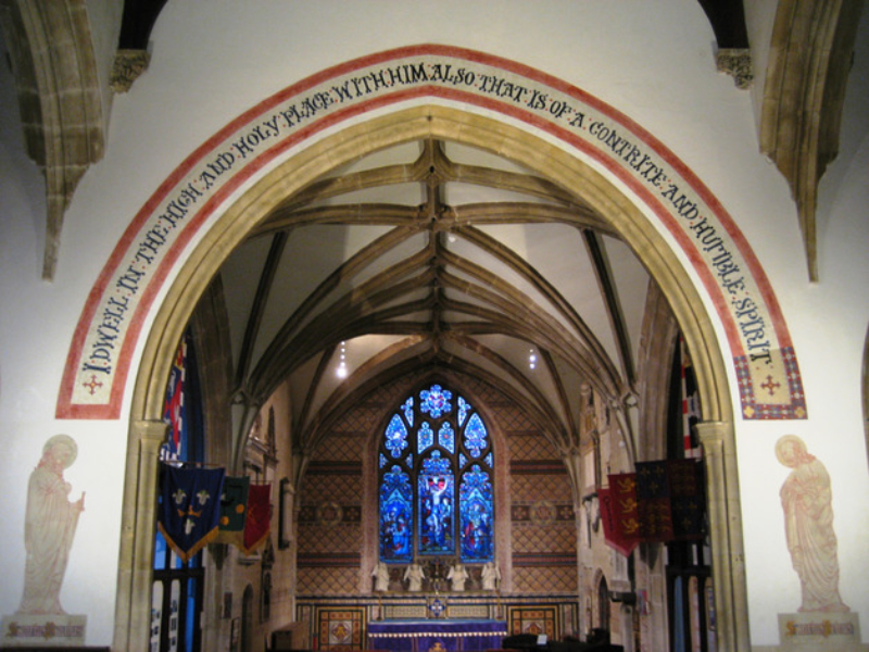 Restored nave and chancel St Peters