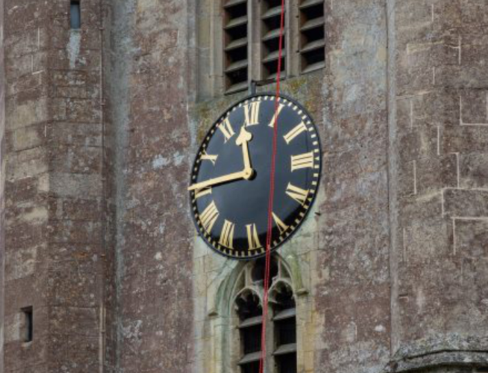 St Peter's Clock Dial Replaced